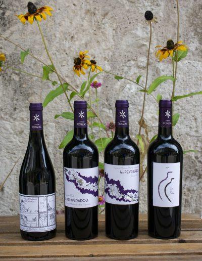 Étiquettes bouteilles de vin - Domaine Ponzac